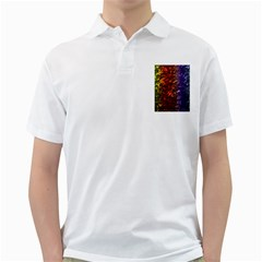 Multi Color Magical Unicorn Rainbow Shimmering Mother of Pearl Golf Shirts