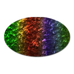 Multi Color Magical Unicorn Rainbow Shimmering Mother of Pearl Oval Magnet