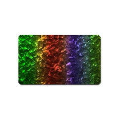 Multi Color Magical Unicorn Rainbow Shimmering Mother of Pearl Magnet (Name Card)