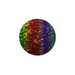 Multi Color Magical Unicorn Rainbow Shimmering Mother of Pearl Golf Ball Marker