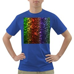 Multi Color Magical Unicorn Rainbow Shimmering Mother of Pearl Dark T-Shirt