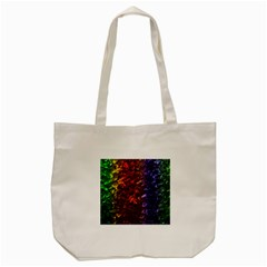 Multi Color Magical Unicorn Rainbow Shimmering Mother of Pearl Tote Bag (Cream)