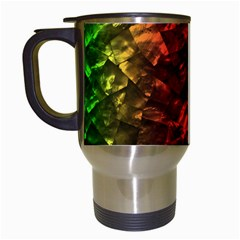 Multi Color Magical Unicorn Rainbow Shimmering Mother of Pearl Travel Mugs (White)