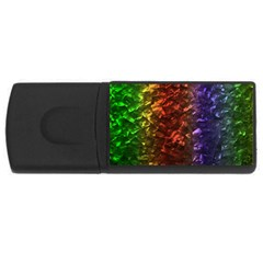 Multi Color Magical Unicorn Rainbow Shimmering Mother of Pearl USB Flash Drive Rectangular (4 GB)