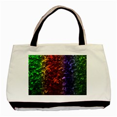 Multi Color Magical Unicorn Rainbow Shimmering Mother of Pearl Basic Tote Bag