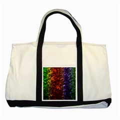 Multi Color Magical Unicorn Rainbow Shimmering Mother of Pearl Two Tone Tote Bag