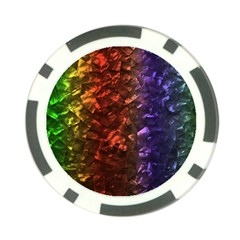 Multi Color Magical Unicorn Rainbow Shimmering Mother of Pearl Poker Chip Card Guard