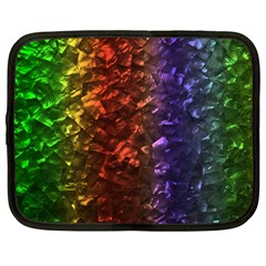 Multi Color Magical Unicorn Rainbow Shimmering Mother of Pearl Netbook Case (Large)