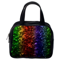 Multi Color Magical Unicorn Rainbow Shimmering Mother of Pearl Classic Handbags (One Side)