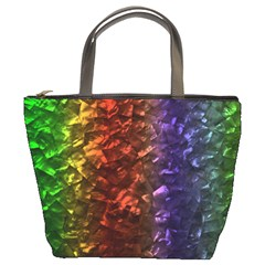 Multi Color Magical Unicorn Rainbow Shimmering Mother of Pearl Bucket Bags