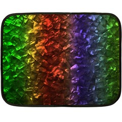 Multi Color Magical Unicorn Rainbow Shimmering Mother Of Pearl Double Sided Fleece Blanket (mini)