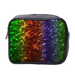 Multi Color Magical Unicorn Rainbow Shimmering Mother of Pearl Mini Toiletries Bag 2-Side