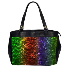 Multi Color Magical Unicorn Rainbow Shimmering Mother of Pearl Office Handbags (2 Sides)