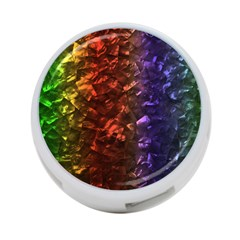 Multi Color Magical Unicorn Rainbow Shimmering Mother of Pearl 4-Port USB Hub (Two Sides)