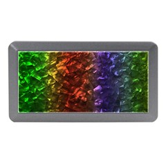 Multi Color Magical Unicorn Rainbow Shimmering Mother of Pearl Memory Card Reader (Mini)