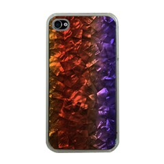 Multi Color Magical Unicorn Rainbow Shimmering Mother Of Pearl Apple Iphone 4 Case (clear)