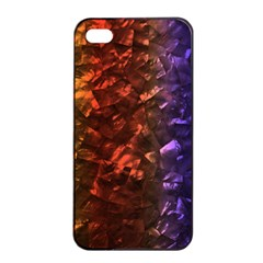 Multi Color Magical Unicorn Rainbow Shimmering Mother of Pearl Apple iPhone 4/4s Seamless Case (Black)