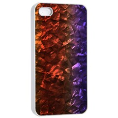 Multi Color Magical Unicorn Rainbow Shimmering Mother of Pearl Apple iPhone 4/4s Seamless Case (White)
