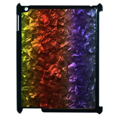 Multi Color Magical Unicorn Rainbow Shimmering Mother of Pearl Apple iPad 2 Case (Black)