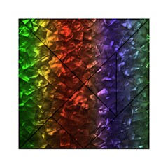 Multi Color Magical Unicorn Rainbow Shimmering Mother of Pearl Acrylic Tangram Puzzle (6  x 6 )