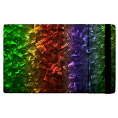 Multi Color Magical Unicorn Rainbow Shimmering Mother of Pearl Apple iPad 3/4 Flip Case