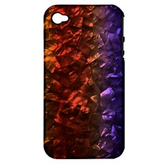 Multi Color Magical Unicorn Rainbow Shimmering Mother of Pearl Apple iPhone 4/4S Hardshell Case (PC+Silicone)