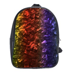Multi Color Magical Unicorn Rainbow Shimmering Mother of Pearl School Bags (XL)