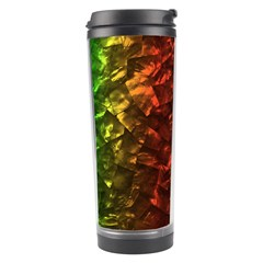 Multi Color Magical Unicorn Rainbow Shimmering Mother of Pearl Travel Tumbler