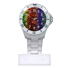 Multi Color Magical Unicorn Rainbow Shimmering Mother of Pearl Plastic Nurses Watch