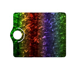 Multi Color Magical Unicorn Rainbow Shimmering Mother of Pearl Kindle Fire HDX 8.9  Flip 360 Case