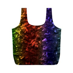 Multi Color Magical Unicorn Rainbow Shimmering Mother of Pearl Full Print Recycle Bags (M)