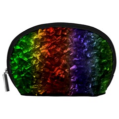Multi Color Magical Unicorn Rainbow Shimmering Mother of Pearl Accessory Pouches (Large)