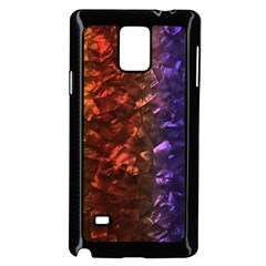 Multi Color Magical Unicorn Rainbow Shimmering Mother of Pearl Samsung Galaxy Note 4 Case (Black)