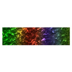 Multi Color Magical Unicorn Rainbow Shimmering Mother of Pearl Satin Scarf (Oblong)