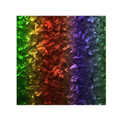 Multi Color Magical Unicorn Rainbow Shimmering Mother of Pearl Small Satin Scarf (Square)