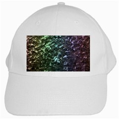 Natural Shimmering Mother of Pearl Nacre  White Cap