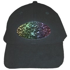 Natural Shimmering Mother of Pearl Nacre  Black Cap