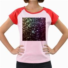 Natural Shimmering Mother of Pearl Nacre  Women s Cap Sleeve T-Shirt