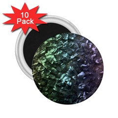 Natural Shimmering Mother of Pearl Nacre  2.25  Magnets (10 pack)