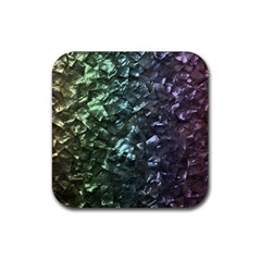 Natural Shimmering Mother of Pearl Nacre  Rubber Square Coaster (4 pack)