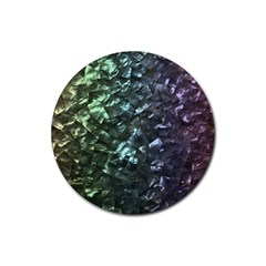 Natural Shimmering Mother of Pearl Nacre  Rubber Coaster (Round)