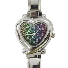Natural Shimmering Mother of Pearl Nacre  Heart Italian Charm Watch