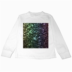 Natural Shimmering Mother of Pearl Nacre  Kids Long Sleeve T-Shirts