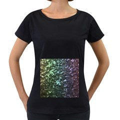 Natural Shimmering Mother of Pearl Nacre  Women s Loose-Fit T-Shirt (Black)