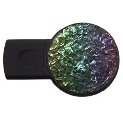 Natural Shimmering Mother of Pearl Nacre  USB Flash Drive Round (4 GB)