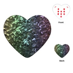 Natural Shimmering Mother of Pearl Nacre  Playing Cards (Heart)