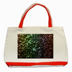 Natural Shimmering Mother of Pearl Nacre  Classic Tote Bag (Red)