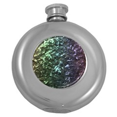 Natural Shimmering Mother of Pearl Nacre  Round Hip Flask (5 oz)