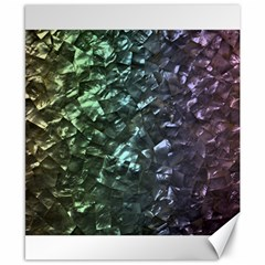 Natural Shimmering Mother of Pearl Nacre  Canvas 8  x 10