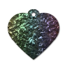 Natural Shimmering Mother of Pearl Nacre  Dog Tag Heart (Two Sides)